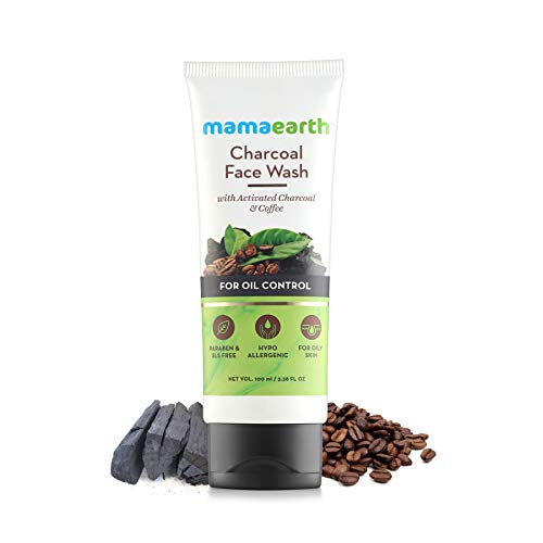Mamaearth Charcoal Face Wash with Coffee Extracts for Deep Cleansing & Exfoliation- Facial Cleanser- Controls Excess Oil & Detoxifies Skin- Toxin-free, All Natural with Organic Ingredients