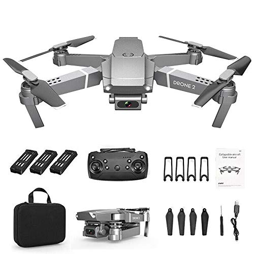 Foldable E68 RC Drone x pro Selfie WiFi FPV Drone with 720 P/1080P/4K HD Camera for Adults Bginner,RC Quadcopter w/Long Flight Time,APP Support,RTF (4K, 3 Battery)