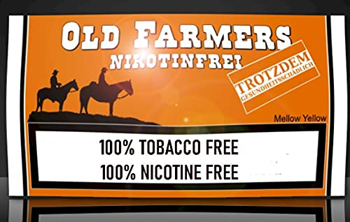 Old Farmers Mellow Yellow - Sustituto de tabaco (35 g, sin n