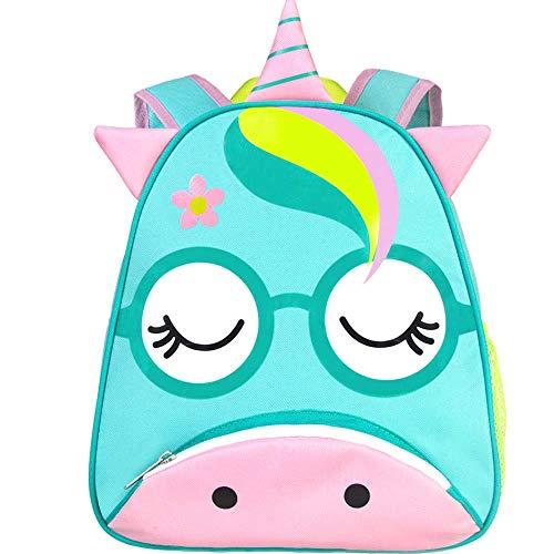 Toddler Backpack, 12' Unicorn Preschool Girls Bag