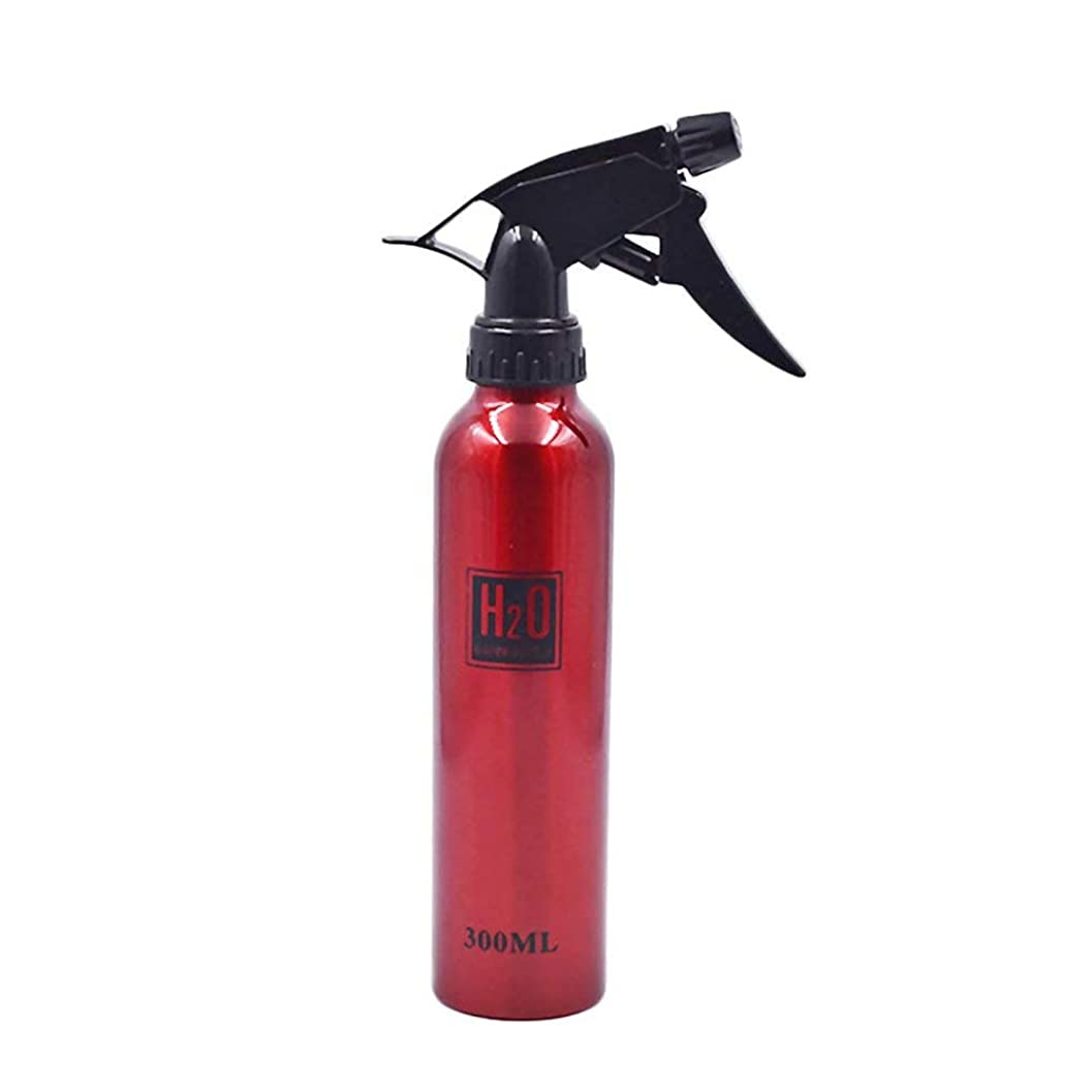 人工的なお切るOnior 実用 アルミニウム 噴霧瓶 ネブライザー 化粧品 水 サロンヘア 洗剤使用 1枚 (赤 300ml)