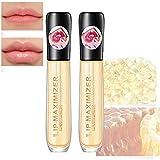 Zhengbenchang Lip Maximizer Plumping Gloss, Lip Plumper Extreme Lip Gloss Enhancer Booster Volume, Instant Fuller Lips, Moisturizing Lip Care Serum, Lip Repairing Reduce Lip Fine Lines (2PCS)