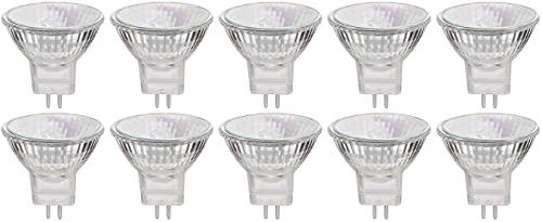 MR11 Halogen Leuchtmittel 12V 20W, GU4 Halogenlampen, 2800K Warmweiß Dimmbar, 10er-Pack