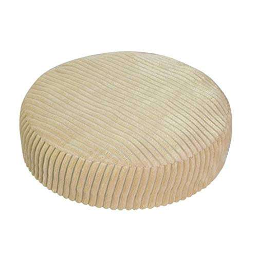 BANGSUN Funda para silla antideslizante, transpirable, redonda, color beige