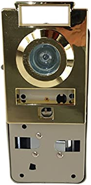 Maxtech DV10 Polished Brass US3 Door Viewer and Non Electric Chime Combination