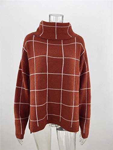Jianhui dames pullover pullover trui gebreide trui lange mouwen Quadri