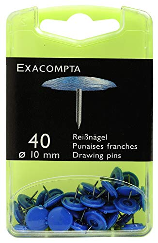 Exacompta 14022E - Cajita de 40 chinchetas, color azul