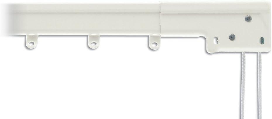 graber super heavy duty traverse curtain rod 120 228 inch white center draw