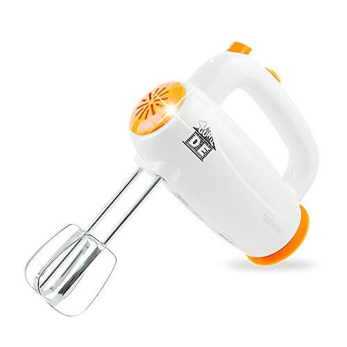 LXS Batidora Manual Eléctrica de Alta Potencia Crema Batidora Doméstica Mezclando Mini Batidora Comercial,Naranja,Un regalo de Navidad