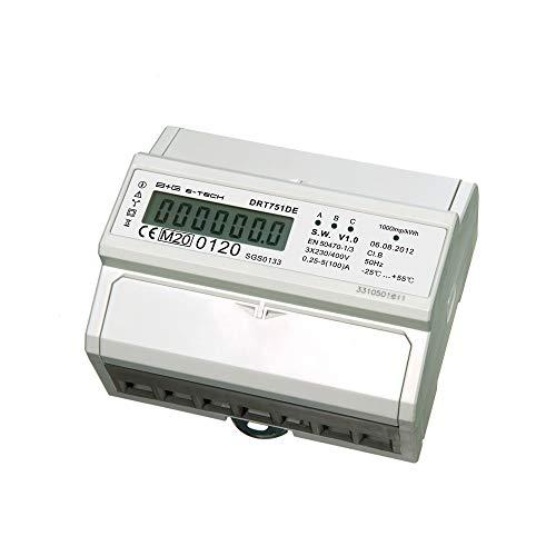 DRT751DE-MID - digitaler LCD Drehstromzähler/Stromzähler 5(100) A mit S0 Interface für DIN Hutschiene, geeicht/MID zugelassen