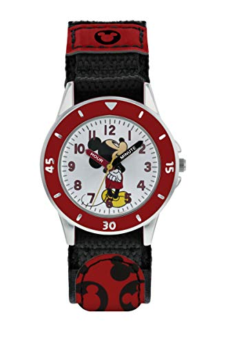 Mickey Mouse Reloj Analógico para Niños de Cuarzo con Correa en Tela MK5151