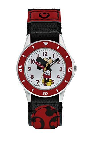 Mickey Mouse Jungen Analog Quarz Uhr mit Stoff Armband MK5151