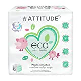 ATTITUDE Hypoallergenic Disposable Baby Wipes, Fragrance Free, 3 X 72 Wipes Bundle (Packaging May...