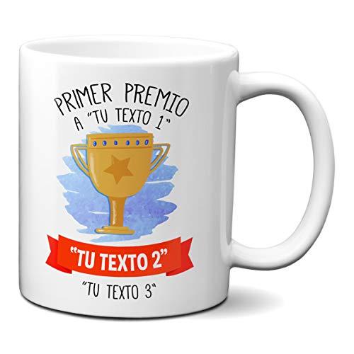 Taza Personalizada Trofeo Primer Premio… Texto O Nombre Personalizado del Mundo - Tazas para Regalar En Cumpleaños para Chico Chica Amigos
