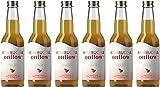 Kombucha Onflow - Té Kombucha Sabor a Manzana y Canela - Pack de 6 x 33 cl - Bebida Vegana, Ecológica y Orgánica - Elimina Toxinas - Té Kombucha en Base a SCOBY - Elaborado en España