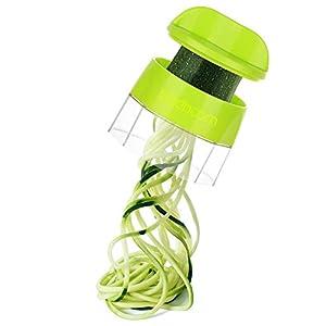 Sedhoom Cortador de Verdura 4 en 1 Rallador de Verduras Calabacin Pasta Espiralizador Vegetal Veggetti Slicer, Espaguetis de Calabacin, Cortador Espiral Manual