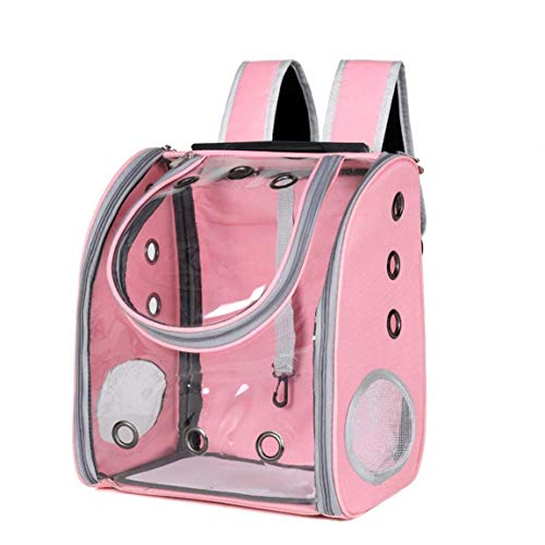 Nicetruc Pet Cat Carrier Backpack Breathable Cat Travel Transparent Space Capsule Back Pack Front Pack Zipper Portable Foldable for Small Medium Cat Puppy Doggie