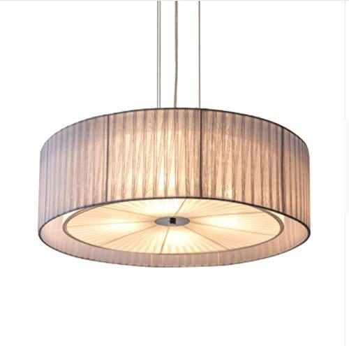 Lampen hanglamp plafondlamp hanglamp kroonluchter Nordic woonkamer ijzer E27 lamp kroonluchter DIY Home Deco rond restaurant kroonluchter lampen gaas stof lampenkap