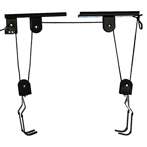 Bike Wall Hanger - Mounted Hoist Storage Garage Bicycle Lift Ceiling Bike Hanger Save Space Roof Ceiling Pulley Rack Display Rack Wall Mount Suitable for All Kinds of Bicycles or Other Sundries