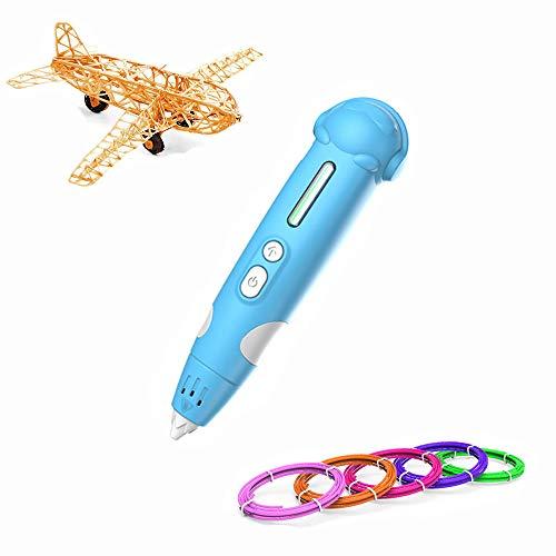 RC TECNIC 3D Penna Stampa con Stampante a Filamento in PLA ABS Regalo per Ragazza Ragazzo con Batteria Ricaricabile Compatibile con 8 Colori per la Stampa di Disegni Regali di Compleanno