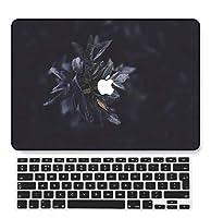 FULY-CASE プラスチックウルトラスリムライトハードシェルケース対応のある最新のMacBook Air 13インチRetinaディスプレイタッチIDUSキーボードカバー A1932 (植物 0498)