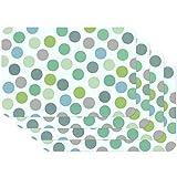 Tovagliette stampate Confetti Multico verde, Tovagliette da Tavola, tovaglietta, Tovaglietta per sala da pranzo, a prova di cibo, 4 pezzi, 30 x 450 cm, Venilia 59057