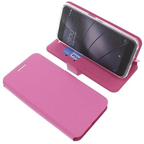 foto-kontor Tasche für Gigaset Me Pro Book Style pink Schutz Hülle Buch
