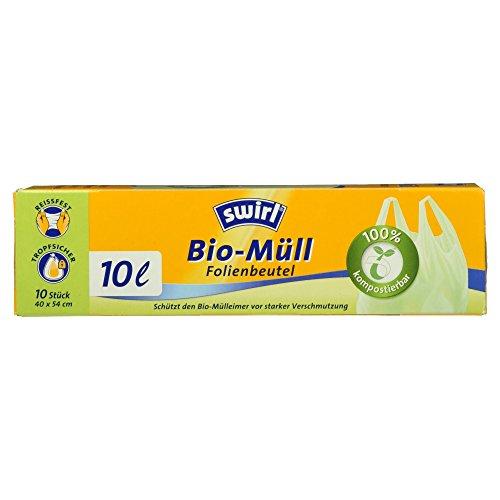 Swirl Bio-Müll Folienbeutel mit Tragegriff, 10 Stück