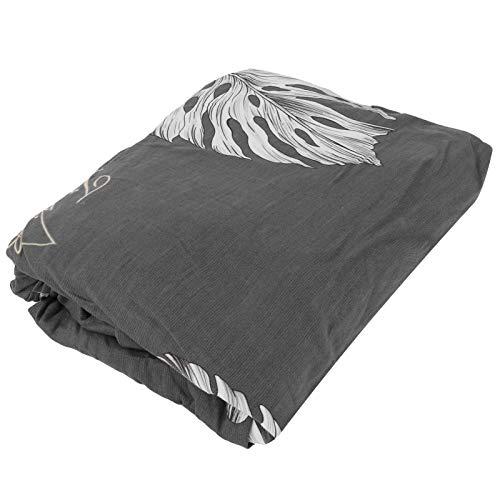 DAUERHAFT Funda de sofá Funda de sofá Estampada Fibra de poliéster con Costura de Cinco Cables para hogares con niños para hogares con Mascotas para la mayoría de los sofás(Gray Feather Leaf)