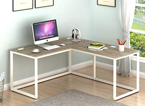 SHW Triangle-Leg L-Shaped Home Office Computer Desk