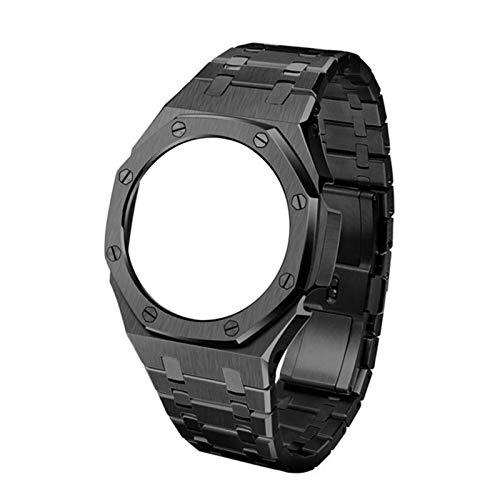 LAAGFC 3ª generación GA2100 Correa de reloj de metal GA2110 Bisel para reloj Casio G Shock GA-2100 Accesorios de repuesto para relojes de hombre (color de la correa: negro A)