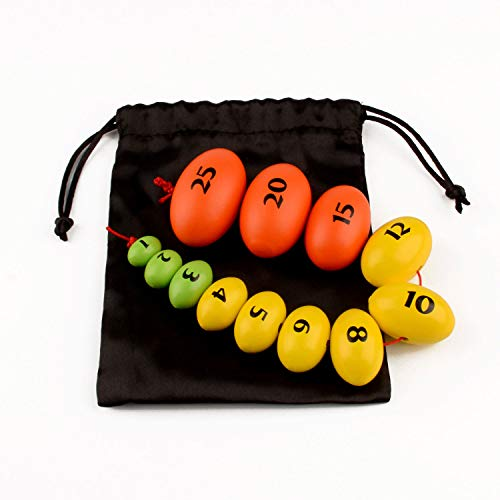 Wooden Prader Orchidometer, Prader Balls, Endocrine Rosary for Measuring Testis Scale in Clinic/Hospital, Best Gift for Endocrinologist and Pediatrician