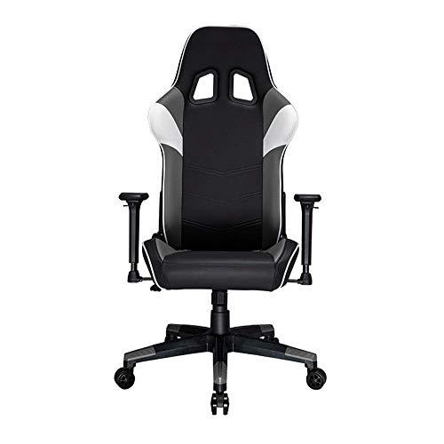 Butaca de juego de carreras de silla ergonómica del asiento de cuero de alta Volver Racing Supervisor de escritorio de la computadora Silla de oficina (Color: Naranja, Tamaño: 129-139x70x56cm) ZHNGHEN
