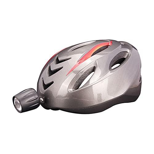 perfeclan Casco de Bicicleta Inteligente LED Tapa de Bicicleta luz Recargable USB, luz de Freno, señal de Giro y con Control Remoto