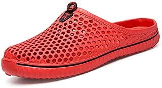 Department Store - Pantofole casual da uomo, unisex, con ritaglio, casual, da spiaggia, infradito antiscivolo (colore: ros...