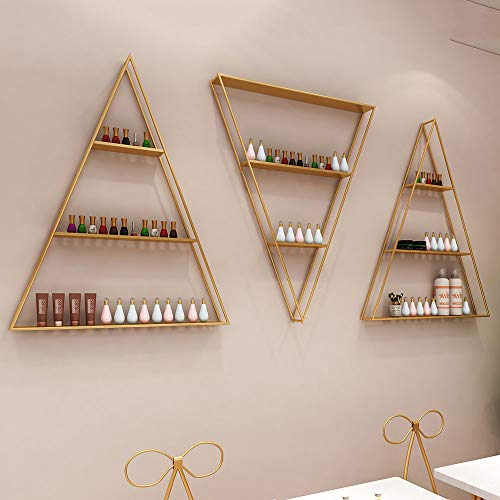 Metallpodest Nagellack Displayständer, Wand Display/Salon festes Wandregal, Kosmetische Nagellack Aufbewahrungsbox, Für Kosmetikflaschen oder ätherische Ölboxen