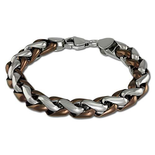Amello geflochten Armband bronze vergoldet Herren Schmuck Edelstahl ESAC01N2
