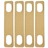 Huante 4個 真鍮ネック金属シム0.2mm 0.5mm 1mm厚さ、STエレクトリックギターベース用