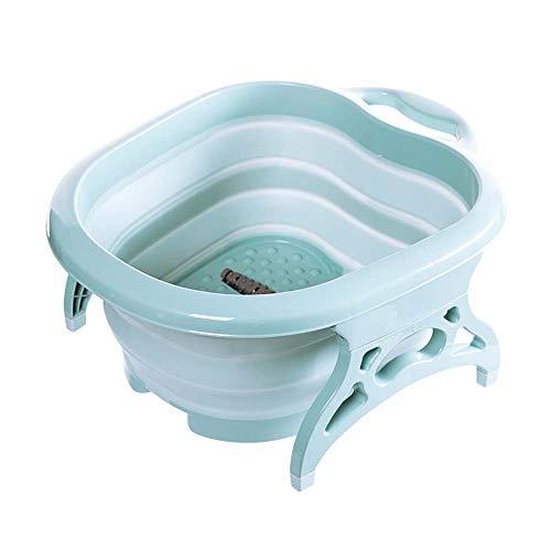 Vaschetta Pieghevole per Piedi Vasca per pediluvio Grande bacino del piede Per il piede in ammollo Pedicure Massaggio termale e piedi,Blue