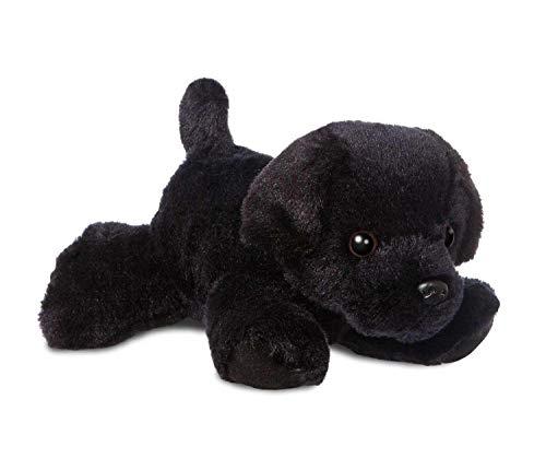 Aurora 31295 Mini Flopsies Blackie Schwarzer Labrador-Hund, 20,3 cm, weiches Spielzeug, 20,3 cm