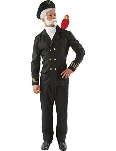 ORION COSTUMES Herren Captain Birdseye Matrosenuniform Maskenkostüm, Schwarz, XL