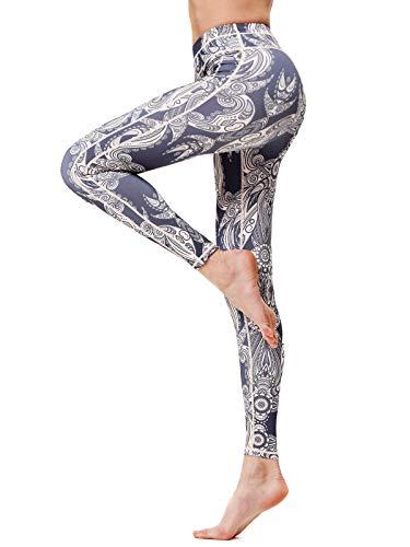 FLYILY Cintura Alta Elásticos Pantalones de Yoga Para Mujer Leggings para Correr...