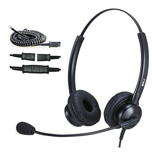 MKJ Headset Compatible with Cisco Phones Dual Ear Landline Headset with Noise Cancelling Microphone for Cisco Telephone CP-7821 7841 7942G 7941G 7945G 79607961G 7962G 7965G 7971G 7975G 8841 8865 9971