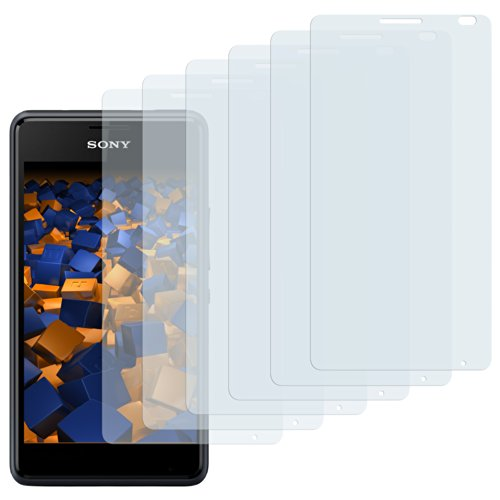 mumbi Schutzfolie kompatibel mit Sony Xperia E1 Folie klar, Bildschirmschutzfolie (6X)