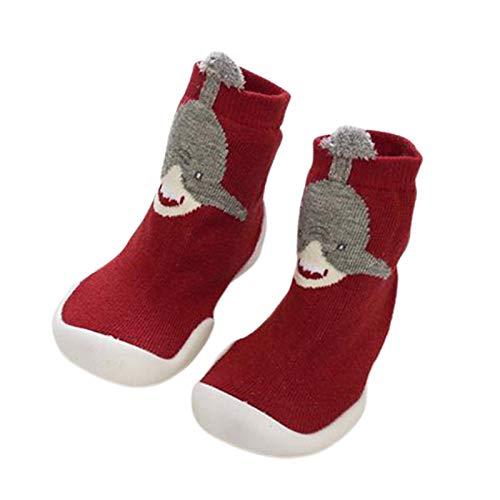 Kalaokei Los niños Zapatos Y Calcetines De Dibujos Animados Bebé Antideslizante Piso Calcetines De Alta Parte Superior Zapatos Con Suave Suela Gruesa Amarillo León 25