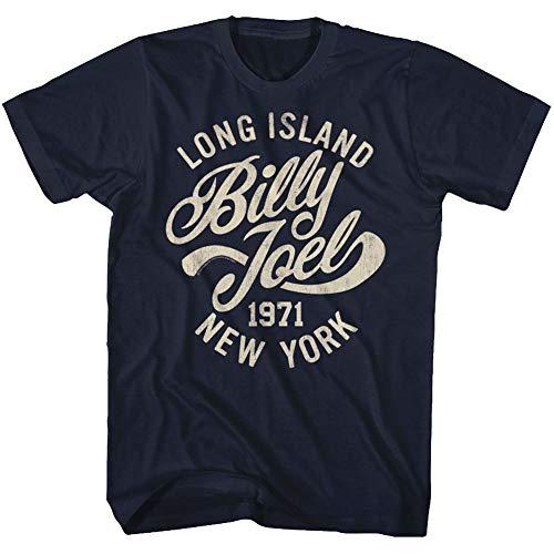 Billy Joel Singer-Songwriter 1971 Long Island NY Vintage Navy Adult T-Shirt Tee