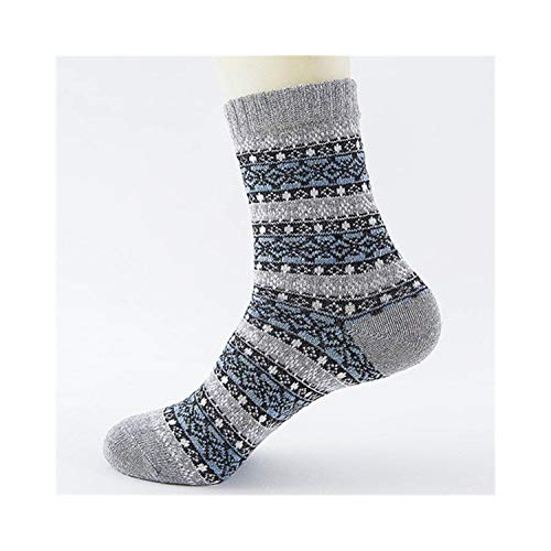 Kagoroo Calcetines divertidos Winter Thick Warm Stripe Wave