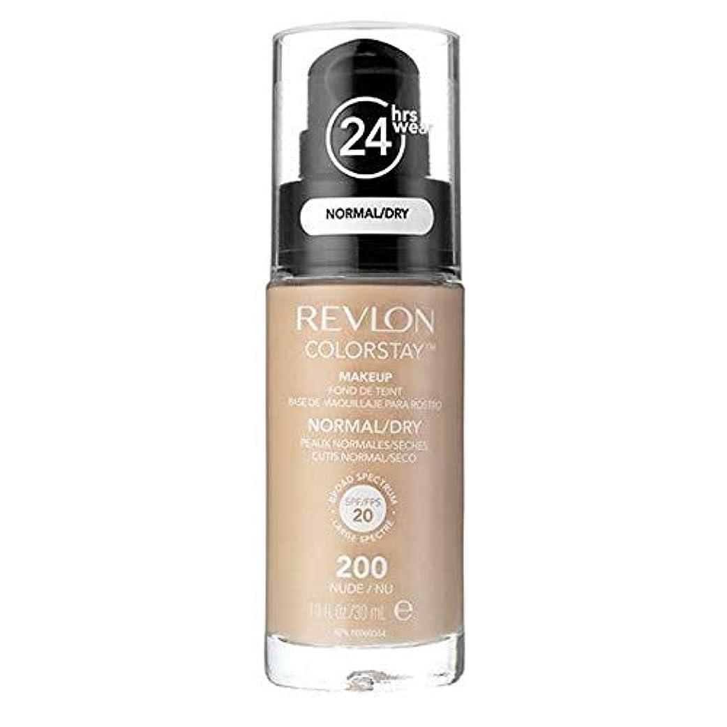 難破船直径著作権[Revlon ] レブロンカラーステイ基盤ノルム/ドライヌード30ミリリットル - Revlon Color Stay Foundation Norm/Dry Nude 30ml [並行輸入品]