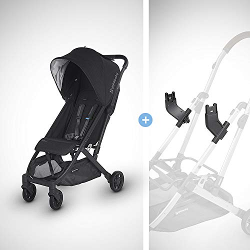 Discover Bargain UPPAbaby MINU Stroller + MESA Adapter - Jake (Black Melange/Carbon/Black Leather)