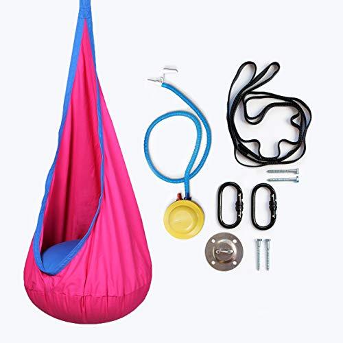 Harkla Dondolo per I Bambini Hanging - Sedia Pod sensoriale Includere L'Hardware - Grande Come Un'Altalena Sensoriale per L'Autismo (Rosa)